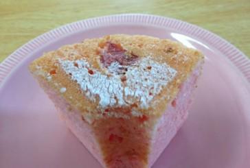 さくらのシフォンケーキを食べてみた、小学4年の次女が、おもわず叫んだ!