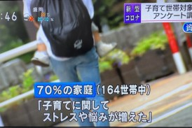 今朝NHKニュース!アンケート結果放送されました。<新型コロナウィルスによる家庭への影響>